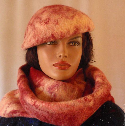 Шарфы и шарфики ручной работы. Ярмарка Мастеров - ручная работа. Купить Шарф  шапка снуд. Handmade. Комбинированный, подарок девушке