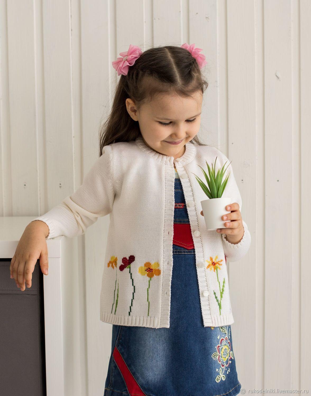 Clothes for Girls handmade. Livemaster - handmade. Buy Little fairy.White, blouse dressy, 50 merino