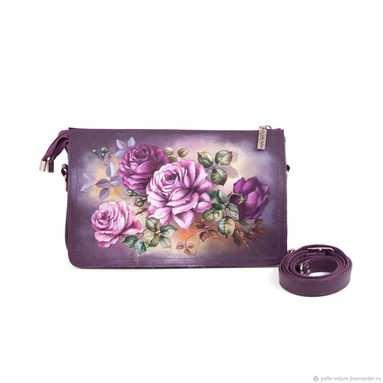 Bag-satchel 'Tenderness roses', Classic Bag, St. Petersburg,  Фото №1