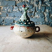 Посуда ручной работы. Ярмарка Мастеров - ручная работа сахарницы с хвостами. Handmade.