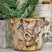 Подарки к праздникам ручной работы. Ярмарка Мастеров - ручная работа РАСПРОДАЖА!! ведерко для шампанского или елочки. Handmade.