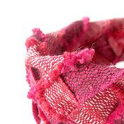 """Украшения ручной работы. Ярмарка Мастеров - ручная работа """"Малиновое бохо"""" плетеный браслет. Handmade."""