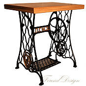 Для дома и интерьера ручной работы. Ярмарка Мастеров - ручная работа Винтажный столик а-ля Зингер. Handmade.
