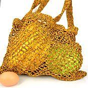 Сумки и аксессуары handmade. Livemaster - original item Bag-string bag, knitted from polypropylene. Handmade.