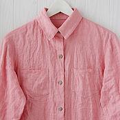 Одежда handmade. Livemaster - original item Powdery women`s shirt made of 100% linen. Handmade.