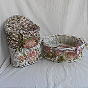 Для дома и интерьера handmade. Livemaster - original item Wicker baskets for kitchen. Handmade.