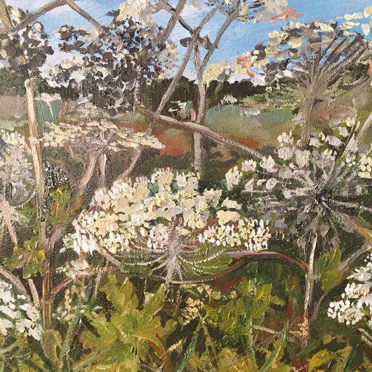 """Картины цветов ручной работы. Ярмарка Мастеров - ручная работа. Купить Картина """"Травы - великаны"""". Handmade. Картина в подарок, травы"""
