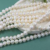 Материалы для творчества handmade. Livemaster - original item 10 PCs. Natural pearls. approx. 8-9 mm (4715). Handmade.