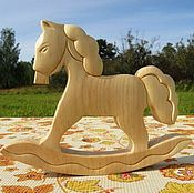 Куклы и игрушки handmade. Livemaster - original item Rocking horse made of wood. The figure of the wooden horse. Handmade.