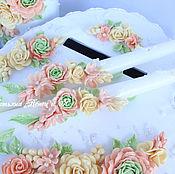 Свадебный салон ручной работы. Ярмарка Мастеров - ручная работа Тонкие свечи для родителей. Handmade.