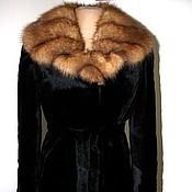 handmade. Livemaster - original item Sheared river beaver and pine marten fur coat. Handmade.