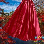 """Одежда ручной работы. Ярмарка Мастеров - ручная работа юбка из искусственного шелка """"Киото"""". Handmade."""