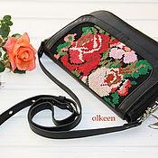 Сумки и аксессуары ручной работы. Ярмарка Мастеров - ручная работа Vintage rose Кожаная сумка с вышивкой. Handmade.