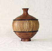 Вазы ручной работы. Ярмарка Мастеров - ручная работа Декоративная ваза из дерева. Handmade.
