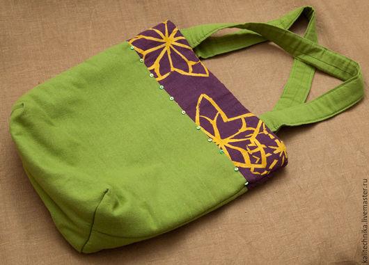 Женские сумки ручной работы. Ярмарка Мастеров - ручная работа. Купить Сумка. Handmade. Зеленый, сумка на плечо, флис