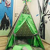 Мебель ручной работы. Ярмарка Мастеров - ручная работа Вигвам для детей полный комплект. Handmade.