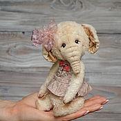 Куклы и игрушки ручной работы. Ярмарка Мастеров - ручная работа Тедди слоненок Молли. Handmade.