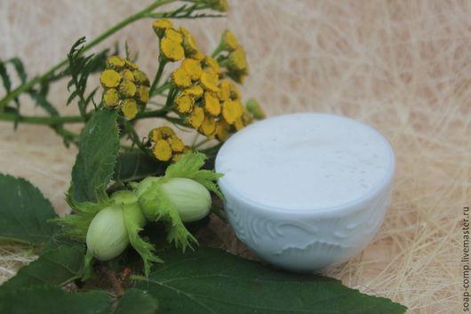 """Для снятия макияжа ручной работы. Ярмарка Мастеров - ручная работа. Купить """"Лесной орех"""" молочко для умывания. Handmade. Белый"""
