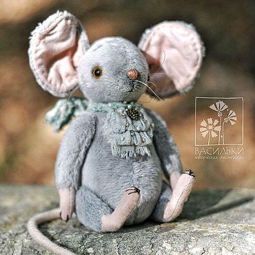 Куклы и игрушки ручной работы. Ярмарка Мастеров - ручная работа Мышка-тедди Лу. Handmade.