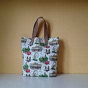 Сумки и аксессуары handmade. Livemaster - original item Thick canvas bag shopper London eco bag textile shopper. Handmade.