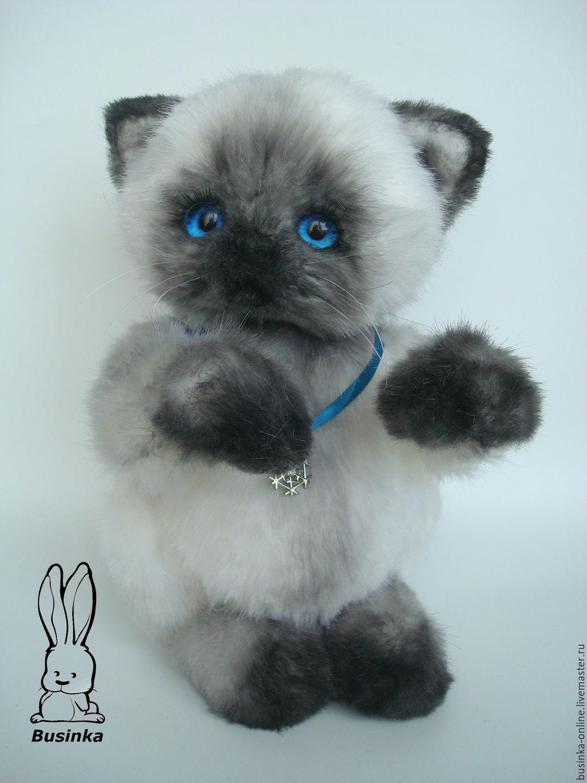 Мишки Тедди ручной работы. Ярмарка Мастеров - ручная работа. Купить Кошечка. Handmade. Чёрно-белый, искусственный мех