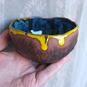 """Посуда ручной работы. Ярмарка Мастеров - ручная работа Пиала """"Немного солнца в холодной воде"""". Handmade."""