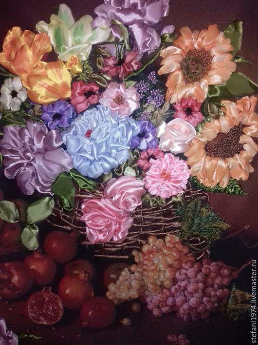 Натюрморт ручной работы. Ярмарка Мастеров - ручная работа. Купить Изобилие. Handmade. Натюрморт с цветами, натюрморт для кухни, Картины и панно