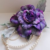 Украшения handmade. Livemaster - original item Rose brooch made of velvet. Handmade.