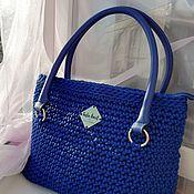 Сумки и аксессуары handmade. Livemaster - original item Women`s bag crocheted Blue dream. Handmade.
