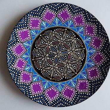 Посуда ручной работы. Ярмарка Мастеров - ручная работа Декоративная тарелка Золотая середина. Handmade.