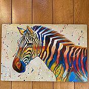 Картины и панно handmade. Livemaster - original item Zebra. pop art. Handmade.