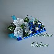 Цветы и флористика ручной работы. Ярмарка Мастеров - ручная работа Шоколадка (синий). Handmade.