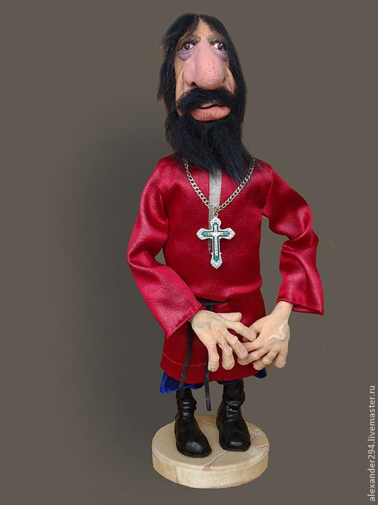 Коллекционные куклы ручной работы. Ярмарка Мастеров - ручная работа. Купить Старец. Handmade. Разноцветный, рубаха, дерево