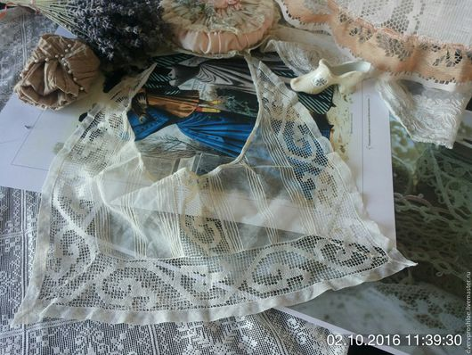 Реставрация. Ярмарка Мастеров - ручная работа. Купить Антикварный воротничок ручной работы для творчества. Handmade. Белый, 18 век, хлопок