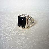 Украшения handmade. Livemaster - original item A ring of black jade. Handmade.