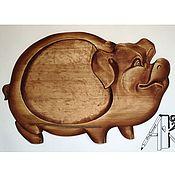 Посуда handmade. Livemaster - original item Board for serving kebab, meat dishes Pig serving. Handmade.