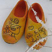 """Обувь ручной работы. Ярмарка Мастеров - ручная работа Тапки валяные """"Поступь солнца"""". Handmade."""