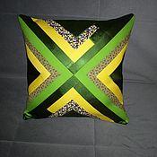 Для дома и интерьера handmade. Livemaster - original item Pillows:Pillow decor (basic tone green) in Patchwork style.. Handmade.