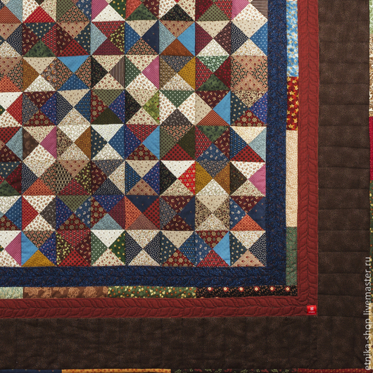 """Текстиль, ковры ручной работы. Ярмарка Мастеров - ручная работа. Купить """"Покой Земли"""" №34. Handmade. Коричневый, стеганое покрывало"""