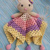 Мягкие игрушки ручной работы. Ярмарка Мастеров - ручная работа Игрушка-сплюшка котёнок. Handmade.