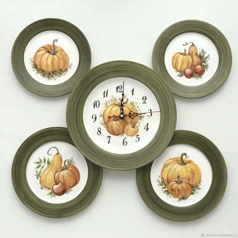Plates on the wall And pumpkin clock, Plates, Kazan,  Фото №1