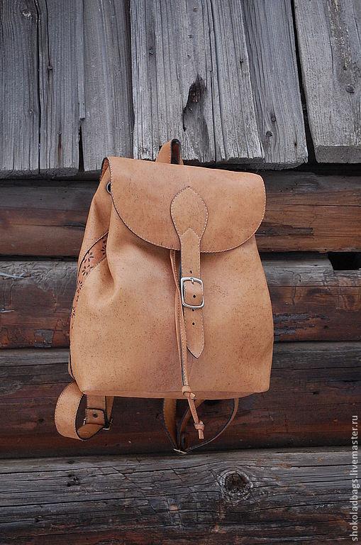 """Рюкзаки ручной работы. Ярмарка Мастеров - ручная работа. Купить Кожаный рюкзак  """"Сафари"""". Handmade. Рюкзак кожаный, нубук"""