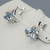 Украшения handmade. Livemaster - original item silver earrings with Topaz stones. Handmade.