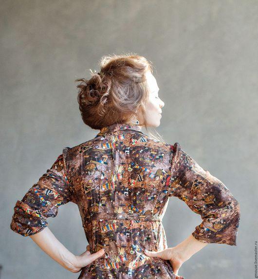Платья ручной работы. Ярмарка Мастеров - ручная работа. Купить Платье из шифона. Handmade. Коричневый, платье из шифона, платье для беременных