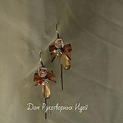 """Украшения ручной работы. Ярмарка Мастеров - ручная работа Серьги """"Кофейные розы"""". Handmade."""