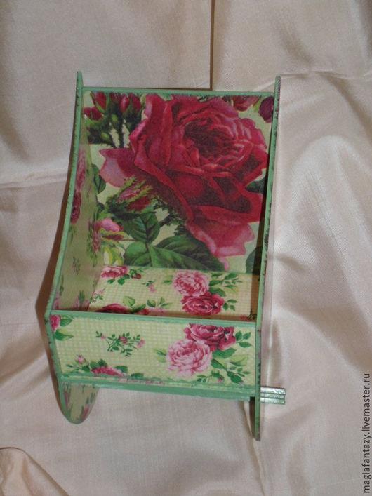 """Ванная комната ручной работы. Ярмарка Мастеров - ручная работа. Купить Держатель для туалетной бумаги """"Красные розы"""". Handmade. Зеленый"""