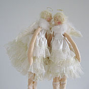 Куклы и игрушки ручной работы. Ярмарка Мастеров - ручная работа Тильда Ангелы небесные. Handmade.