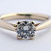 Украшения ручной работы. Ярмарка Мастеров - ручная работа золотое кольцо с бриллиантом. Handmade.