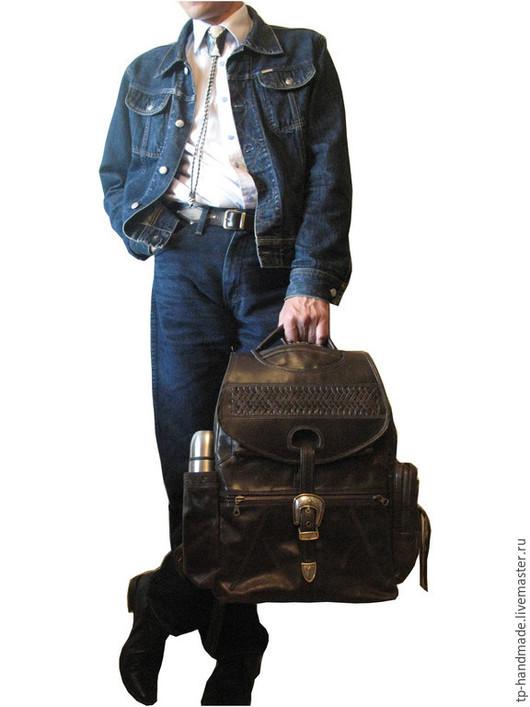 Рюкзаки ручной работы. Ярмарка Мастеров - ручная работа. Купить Мужской рюкзак кожаный вестерн «Singing Yippie Aye». Handmade.