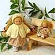 Вальдорфская игрушка ручной работы. Малышка с кукленком, 13 см и 7 см. svetlana. Ярмарка Мастеров. Текстильная кукла
